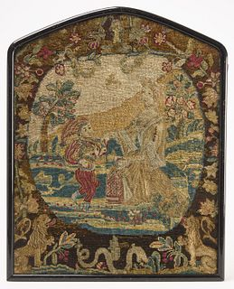 Two Early European Needlework Pictures