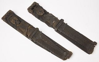 Pair of Early European Carved Architectural