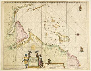 Map- Pieter Goos Oost Indien - 1666