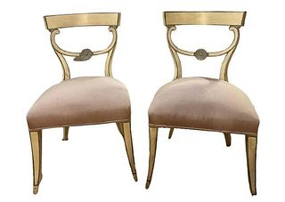 Pair of Dorothy Draper Side Chairs Mid Century Modern.