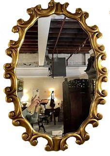Italian Gilt Wood Wall Mirror