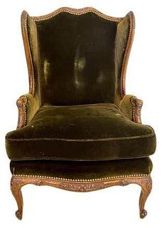 Christopher Hyland Upholstered  Armchair. Louis XV