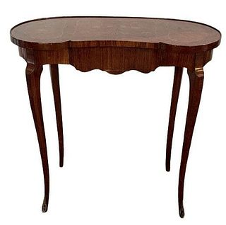 Kidney Shaped End Table