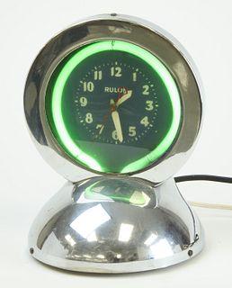 RULON Art Deco Neon Clock