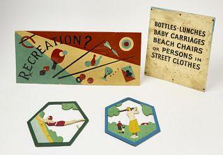 Recreation Sign lot