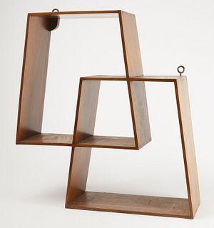 Mahogany Dovetailed Modern Shelf