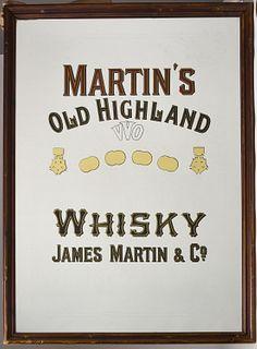 Martin's Old Highland Advertising Mirror