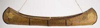 Native American Birch Bark Canoe Model