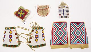 Native American Beadwork Lot