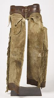 Old Pair of Western Leather Chaps
