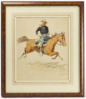 Original Frederic Remington Lithograph - 1901