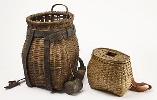 Splint Fishing Creel & Back Pack Basket