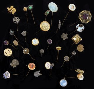 Collection of 36 Victorian Hat Pins