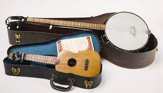 Vintage Banjo and Ukulele