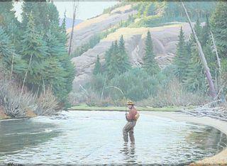 Ogden M. Pleissner (1905-1983), Western Trout Fishing