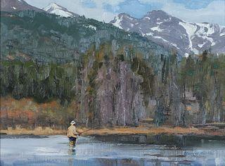 Eldridge Hardie (b. 1940), High Country Flyfishing