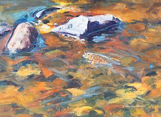 Eldridge Hardie (b. 1940), Rising-Brook Trout