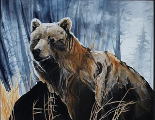 Amy Lay (b. 1972), Grizzly Bear