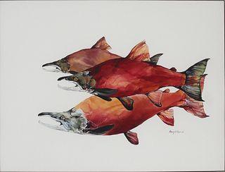 Amy Lay (b. 1972), Sockeye Salmon