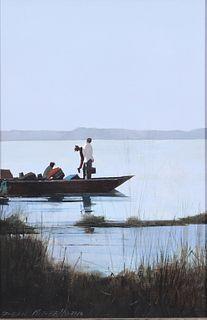 Dean Lamont Mitchell (b. 1957), Fishing on the Gulf