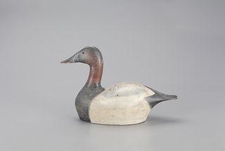 High-Head Canvasback Drake Decoy, Joseph Sieger (1871-1959)