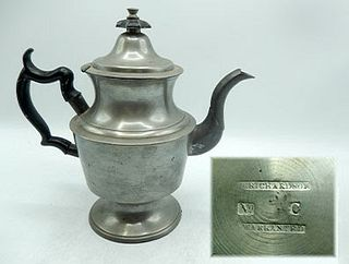 19th Century Urn Shaped American Marked Pot