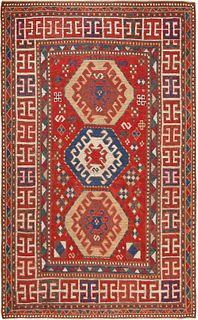 ANTIQUE KAZAK CAUCASIAN. 6 ft 9 in x 4 ft (2.5 m x 1.21 m).