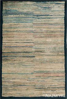 ABSTRACT ANTIQUE MONGOLIAN RUG. 5 ft 7 in x 3 ft 9 in (1.7 m x 1.14 m).