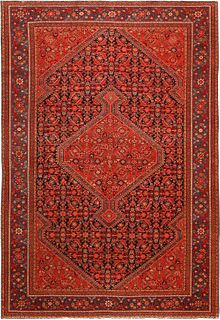 PERSIAN MISHAN MALAYER RUG OF THE FINEST QUALITY, CIRCA DATE: 1920. 6 ft 4 in x 4 ft 4 in (1.93 m x 1.32 m).