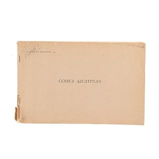Códice Azcatitlan. Paris: Société des Américanistes, 1949.  XXIX láminas.