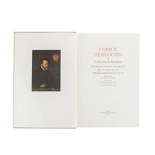 Códice Mendocino ó Colección de Mendoza. México: San Ángel Ediciones, 1979. Ex Libris de Joaquín Cortina Goribar.