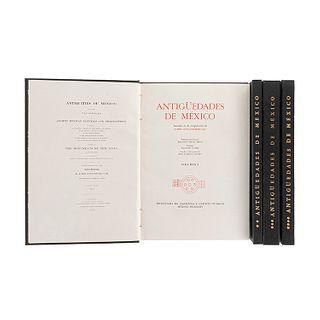 Kingsborough (Lord Edward King). Antigüedades de México. México, 1964 / 1967. Primera edición. Tomos I - IV. Pz: 4.