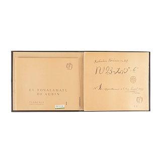 Meade de Angulo, Mercedes - Aguilera, Carmen. El Códice Tonalamatl de Aubin. México, 1981. Texto y facsimilar en carpeta.