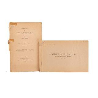 Mengin, Ernest. Codex Mexicanus. Nos 23-24 de la Bibliothèque Nationale de Paris. Paris, 1952. Texto y facsimilar. Piezas: 2.