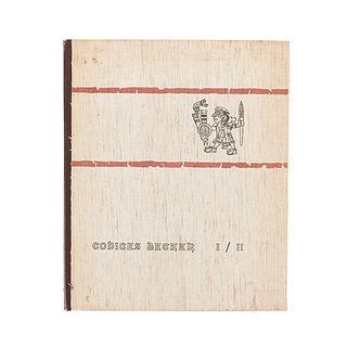 Nowotny, Karl A. Códices Becker I / II. Graz, Austria: Akademische Druck - U. Verlagsanstalt, 1961. Texto y facsimilar en carpeta.