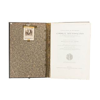 Paso y Troncoso, Francisco del. Colección de Mendoza o Códice Mendocino. México, 1925. Facsimilar. Ex Libris de Joaquín Cortina Goribar