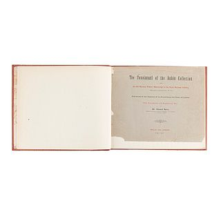 Seler, Eduard. The Tonalamatl of the Aubin Collection: An Old Mexican Picture Manuscript... Berlin-London, 1900-01. 18 láminas.