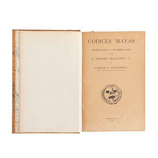 Villacorta C., J. Antonio - Villacorta, Carlos A. Códices Mayas. Guatemala: Tipografía Nacional, 1930. Ilustrado.