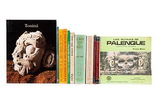 Historia y Crónica de Chac-Xulub-Chen / Los Lacandones de Bonampak / Historia Maya / Yucatán sus Ciudades Arqueológicas... Pzas: 11.