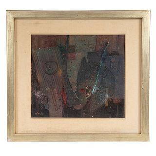 CHIZA. Sin título. Mixta sobre rígido. Firmado al frente y fechado 99. Enmarcado .  51 x 57 cm Detalles de conservación.