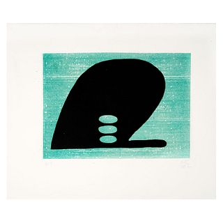 MIGUEL CASTRO LEÑERO (Ciudad de México, 1956 - ) De la serie, el pensamiento de la ballena 11.6 x 39 cm