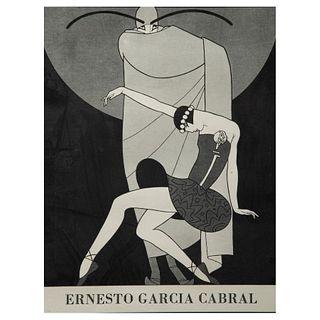 """ERNESTO """"EL CHANGO"""" GARCÍA CABRAL. Sin título. Impresión.  Con dedicatoria. Enmarcada. Detalles de conservación."""
