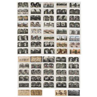 COLECCIÓN DE FOTOPOSTALES. Keystone View Company / Underwood & Underwood. Vistas Estereoscópicas. pzs 70