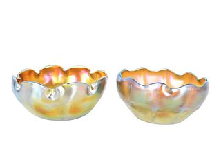 Pair of Louis Comfort Tiffany Favrile Bowls