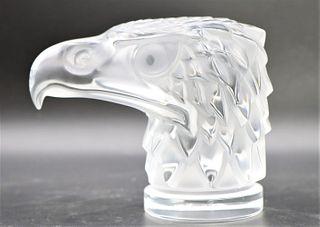 Lalique France Glass Tete D'aigle Eagle Bust