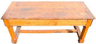 17th C European H-Stretcher Trestle Table