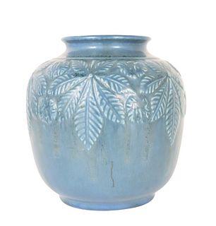 Blue Rookwood Pottery Vase, 1937
