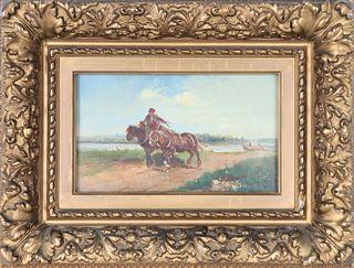 Ignaz Ellminger (1843-1894) Austrian, Oil on Panel