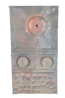 Frank Colson (20th C) Abstract Tin/Wood Sculpture