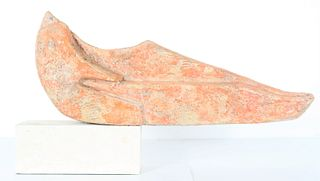 Frank Colson Abstract Terracotta Sculpture on Base